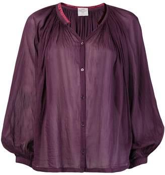 Forte Forte V-neck flared blouse