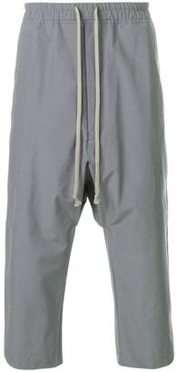 Rick Owens drawstring drop-crotch trousers