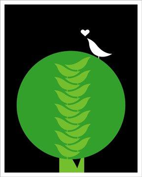 Heather Amuny-Dey Bird Tree Print