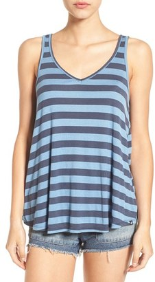 Volcom 'Don't Tell' Stripe V-Neck Tank $29.50 thestylecure.com