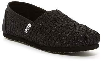 Toms Black Lace Gimmer Classic Slip-On Shoe (Little Kid & Big Kid)