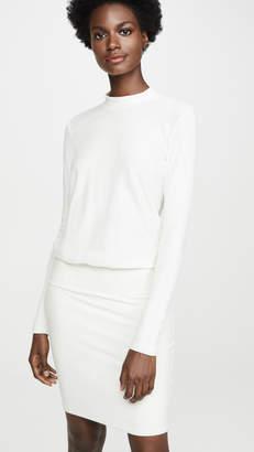 James Perse Rib Sleeve Blouson Dress