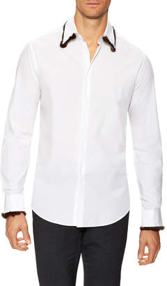 Fendi Solid Spread Collar Shirt