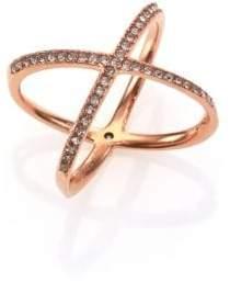 Michael Kors Brilliance Statement Pave X Ring/Rose Goldtone