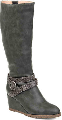Journee Collection Garin Wide Calf Wedge Boot - Women's