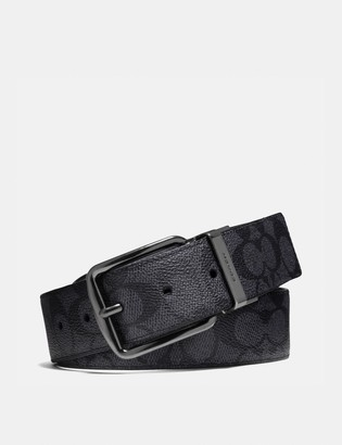 Coach Wide Harness Cut-To-Size Reversible Belt In Signature Canvas