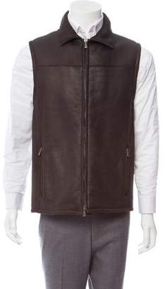 Loro Piana Shearling-Lined Zip-Up Vest