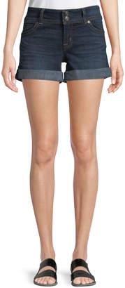 Hudson Ruby Rolled Denim Mid-Thigh Shorts, Dark