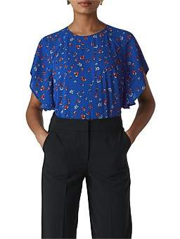 Whistles Ditsy Floral Frill Top