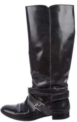 Marc by Marc Jacobs Leather Round-Toe Mid-Rise Boots