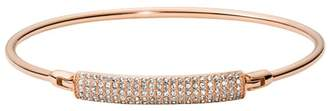 Fossil Bar Rose Gold-Tone Stainless Steel Bangle jewelry