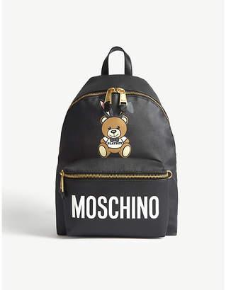 Moschino Playboy teddy leather backpack