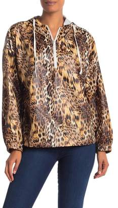 Know One Cares Cheetah Patterned Windbreaker