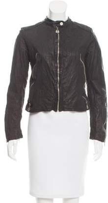 Doma Embellished Leather Jacket w/ Tags
