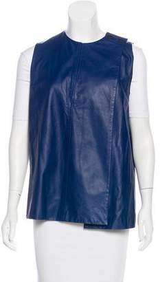 Proenza Schouler Collarless Leather Vest