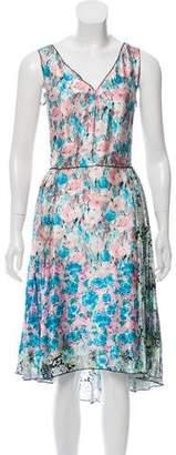 Nina Ricci Silk Floral Print Dress
