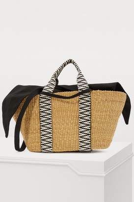 Muun Geo basket bag with pouch