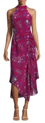 Parker Jagger Floral Silk Midi Dress
