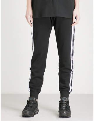 Boy London Side-stripe cotton-jersey jogging bottoms