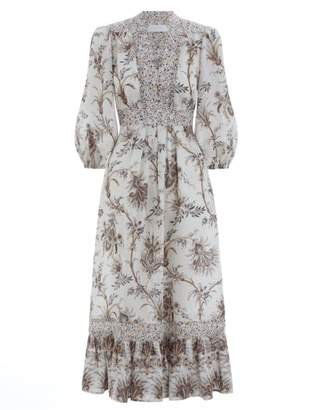 Zimmermann Tali Bib Front Long Dress