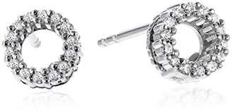 Roberto Coin Tiny Treasures 18k Diamond Open Circle Stud Earrings (1/10cttw