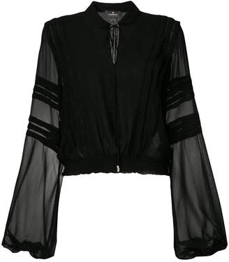 Capucci long-sleeve sheer blouse