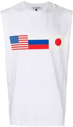 Gosha Rubchinskiy flag print vest top