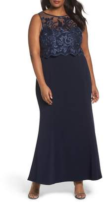 Marina Popover Lace Gown
