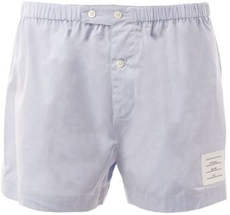 Thom Browne button fastening boxer shorts $125 thestylecure.com