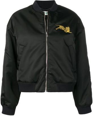 Kenzo tiger embroidered bomber jacket