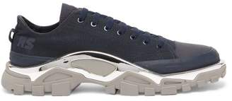 Raf Simons X Adidas - Detroit Runner Low Top Canvas Trainers - Mens - Navy