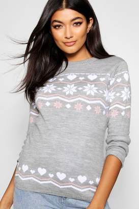 boohoo Fairisle Christmas Jumper