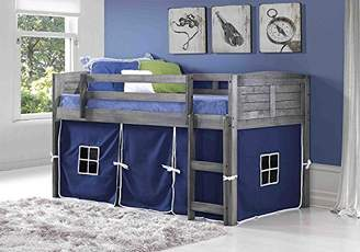 LOFT Donco Kids 790AAG_750C-TB Louver Bed Twin Antique Grey