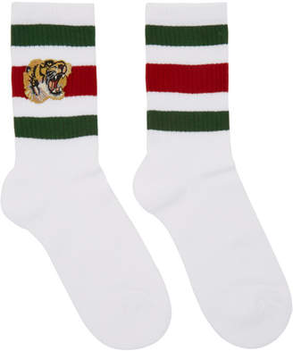 Gucci White Striped Tiger Socks