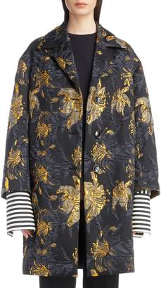 Dries Van Noten Metallic Jacquard Topper