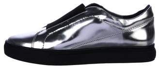 United Nude Metallic Patent Leather Slip-On Sneakers