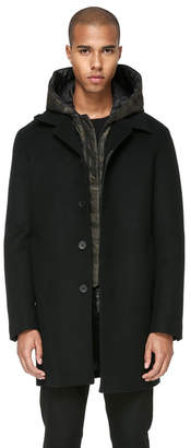 Mackage JAMEL STRAIGHT CUT WOOL JACKET WITH REMOVABLE HOOD
