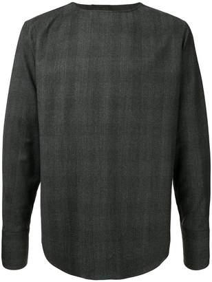 Wooyoungmi oversized collarless shirt
