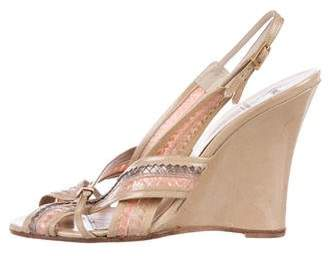 Viktor & Rolf Patent Leather Slingback Sandals