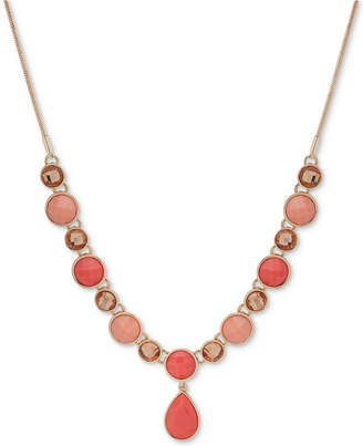 """Nine West Colored Stone 16"""" Y-Necklace"""