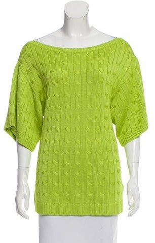 Ralph Lauren Short Sleeve Crochet Sweater