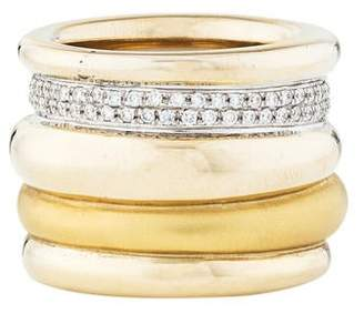 Pomellato 18K Diamond Tubolare Band