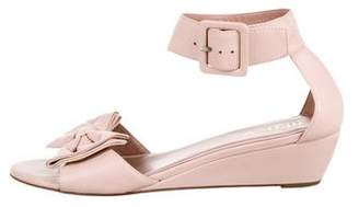 RED Valentino Leather Bowtie Sandals