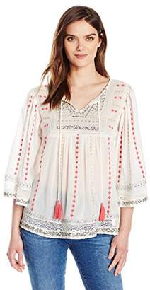 Plenty by Tracy Reese Women's Embroidered Peasant Top