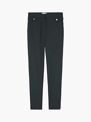 Gerard Darel Tailored Button Detail Guy Trousers, Bottle Green