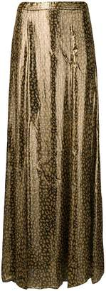 Alice + Olivia Alice+Olivia long leopard print skirt