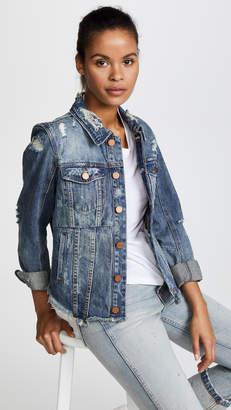 Blank Distressed Denim Jacket