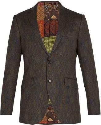Etro Jacquard wool blazer