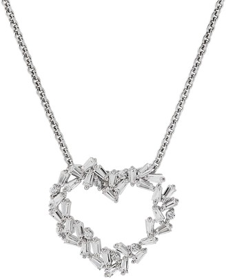 Vera Wang Simply Vera Lab-Created Sapphire Baguette Cluster Heart Pendant Necklace