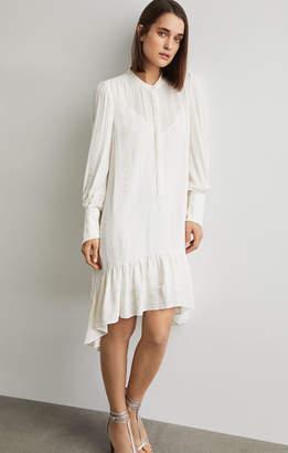 BCBGMAXAZRIA Asymmetrical Button-Up Dress